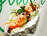 Kebab w bułce (sejtan/bobowina)
