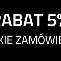 Rabat -5% na zamówienia online