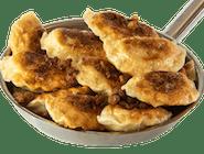 Pierogi z wieprzowiną, fasolą i kukurydzą   - podsmażane