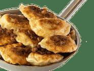 Pierogi Cygańskie z mięsem w sosie paprykowym na ostro