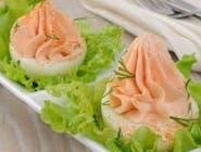 Jajka faszerowane musem z łososia