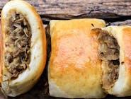 Paszteciki drożdżowe z kapustą i pieczarkami