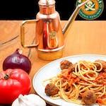Spaghetti z pulpecikami i ragu