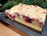 Ciasto  Piaskowe z wiśnią i serem