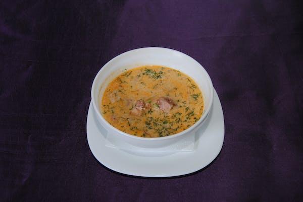 Supa bețivanului ușor picantă cu afumătură