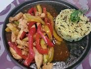 Pui asiatic cu orez sălbatic