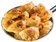 Pierogi podsmażane ze szpinakiem i serem fetą