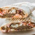 Chleb arabski z frytkami w środku