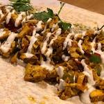 Vege kebab hummus
