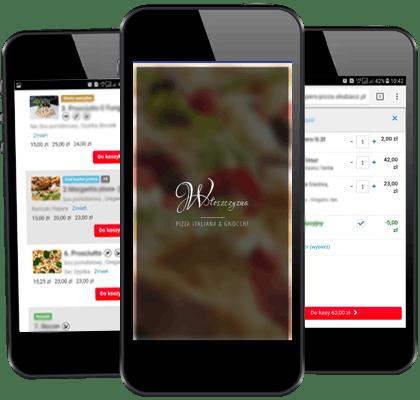 Pizza na telefon - aplikację
