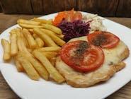 Filet z kurczaka sauté z mozzarellą i pomidorem