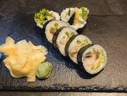 Futomaki makrela, majonez, ogórek, oshinko, sałata 6szt.
