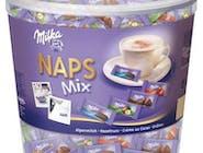 Milka Naps Mix, mini czekoladki, ok. 5g, 4 rodzaje 207 sztuk/PS  OK 47 groszy za czekoladkę  Numer artykułu 13283995