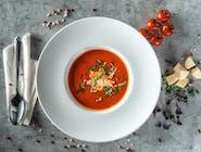 Supă cremă de roșii cu brânză fetta