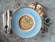 Supă cremă de ciuperci și cremă de trufe