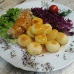 10. Rolada wieprzowa + kluski śląskie