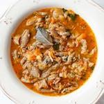 Zupa flaczki z boczniaków