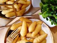 Szyszki ziemniaczane puree z Gzikiem