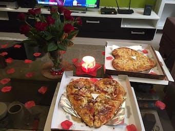 Pizza v tvare srdca