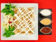 12. Naleśnik - Kurczak, ser wędzony, papryka, kukurydza // sos