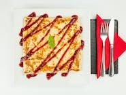 41. Biały ser, banan, miód, orzechy włoskie // sos