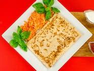 5. Naleśnik - Mięso mielone, ser wędzony, suszone pomidory, oliwki // sos