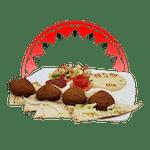Falafel z Hummusem z Chlebem Pitą
