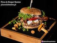 Burger z kurkami - zestaw z frytkami belgijskimi I Pepsi 0,5 l.