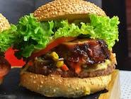 Burger Miesiąca - zestaw z frytkami belgijskimi I Pepsi 0,5 l.
