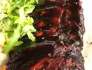 Żeberka z pieca w sosie BBQ  słuszna porcja bo szeroko cięte