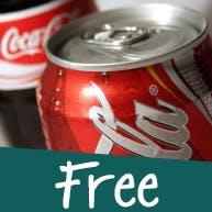 Przy dwóch pizzach, Coca-Cola 850 ml w cenie 1,99 zł