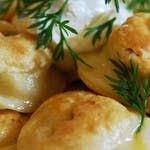 z żółtym serem i pieczarkami 6szt