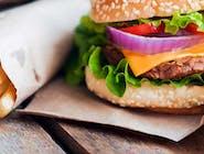 Wołowina Burger + Frytki