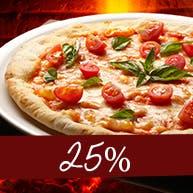 Zamów 2 pizze a drugą otrzymasz 25% taniej