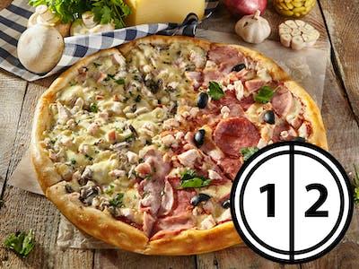 Jumătate și jumătate de pizza