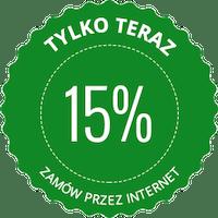 Rabat 15% dla stałych klientów.
