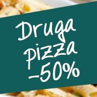 We wtorek do każdej pizzy 45 cm, druga za 50% ceny