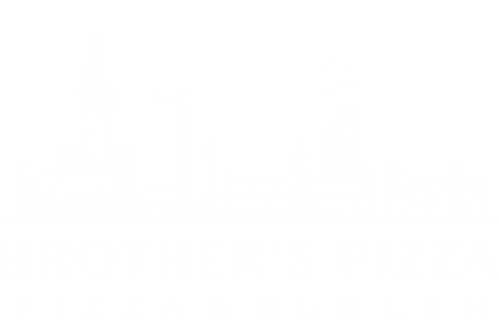 Brother's pizza Black and White